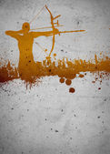 Archery background — Stock Photo