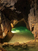 Lake in cave — Stock Photo