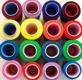 Coils of colored of thread background — Stock Photo