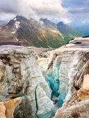 Schism in glacier — Stock Photo