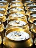 Beer banks in lines. — Stock Photo