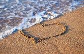 Heart on the sand — Stock Photo