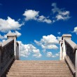 Stair and sky — Stock Photo