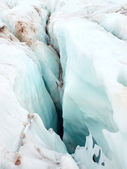 Glacier with rift. — Stock Photo
