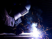 Bright welding. — Stock Photo