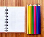 Notepad and pencils. — Stock Photo