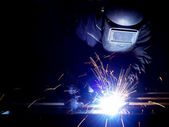 Welder at work — Stock Photo