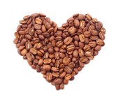 Heart from coffee grains — Stockfoto