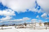 Ländliche landschaft und wolken. — Stockfoto
