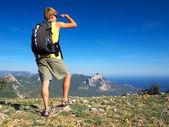 Klättrare på berget — Stockfoto