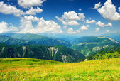 Bright sky in mountain valley — Stock Photo