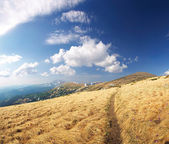 Walkway in the mountains — Stock Photo