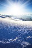 Sun shine in high mountains — Stock Photo