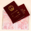 Passports and stamps - Stock Photo