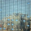 Skyscrapers in reflection — Stock Photo