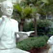Chinese teacher sculpture — Stock Photo