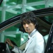 Chinese men model from car show - 图库照片