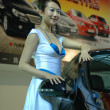 Chinese girls, models from car show — Stockfoto