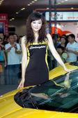 Filles chinoises, les modèles de salon de l'automobile — Photo
