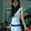 Chinese girls, models from car show — Stock Photo
