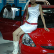 Chinese girls, models from car show - Stock Photo