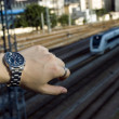 Watch and train - Stockfoto