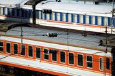 Chinese railway - cars — Stock Photo