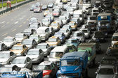 Shanghai traffic jam — Stock Photo