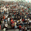 Chinese bus station - crowd of — Stock Photo
