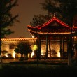 Stock Photo: Chinese pavillion in park by night