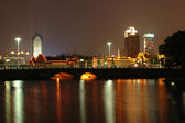 Ningbo, China - moon lake by night — Stock Photo