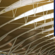 Shanghai Pudong Airport - new terminal - Stock Photo