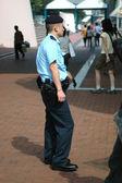 Hongkong policeman — Stock Photo