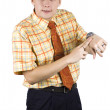 Young, elegant businessman — Stock Photo