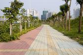Sidewalk in Shenzhen — Stock Photo
