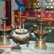 Altar inside Chinese temple — Stock Photo
