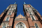Wroclaw's cathedral — Stock Photo