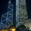 Stock Photo: Hongkong - skyscrapers by night