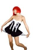 Naughty, red hair girl — Stock Photo