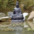 Buddha at pond — Stock Photo
