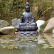 Stock Photo: Buddha at pond