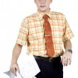 Office clerk with documents — Stock Photo #22969488
