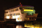 Chinese vessel by night — Stock Photo