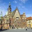 Poland, Wroclaw Town Hall — Stockfoto