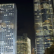 Hongkong - buildings complex by night — Stock Photo