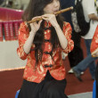 Chinese female musician - China Cultural Fair — Stock Photo #23238348
