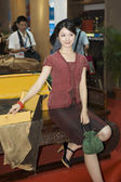 China Cultural Fair, Shenzhen - traditional furniture — Stock Photo