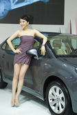 Carro china show 2009 - lindo modelo — Foto Stock