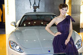 China Car Show 2009 - beautiful model — Stock Photo