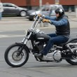 Stock Photo: Harley-Davidson motorcyclist